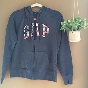 GAP Women's Patriotic Zipper Hoodie Size M NWOT